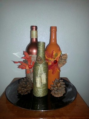Fall Wine Bottles